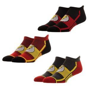 The Flash 3 Pack Men's Athletic Ankle Socks DC JLA
